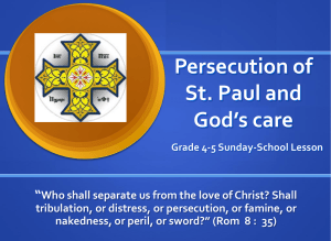 Persecution of St. Paul and God's care