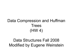 Data Compression and Huffman Trees (HW 4)