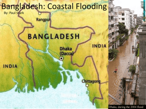 Bangladesh: Coastal Flooding
