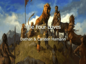 The Four Loves - Dathan and Carsten