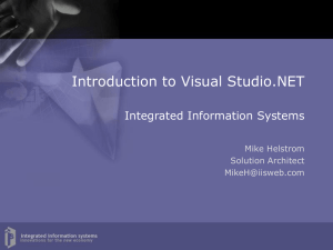 Introduction to Visual Studio.NET