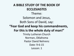 Ecclesiastes-Bible-S.. - Trinity Lutheran Church