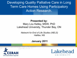 Developing quality PC in LTC homes using participatory action