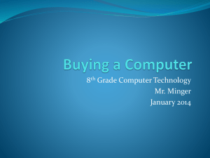Buying a Computer - Mr. Minger's Website
