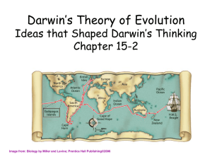 Darwin's Theory of Evolution The Puzzle of Life's Diversity Chapter