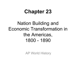 Chapter 23: Nation Building and Economic Transformation in the