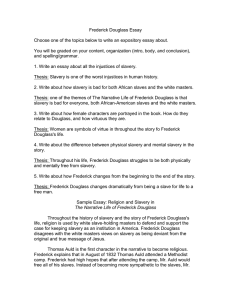 frederick douglass essay outline