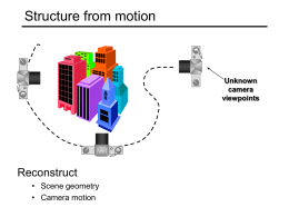Computer Vision: Structure from motion