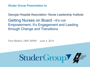 Getting Nurses on Board - Patient Safety