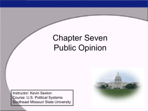Chapter Five Public Opinion