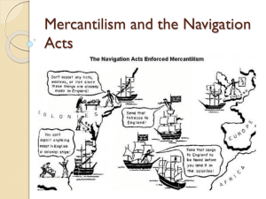 Mercantilism and the Navigation Acts