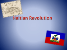 Social Implications of the Haitian Revolution