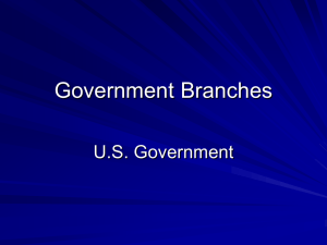 U.S. Government Branches
