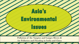 South & East Asia Environmental Issues