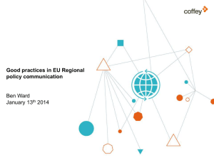 Good practices in EU Regional policy communication