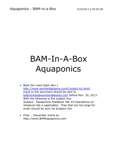 the aquaponics business plan PDF