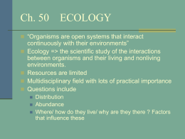 ecology unit study guide Unit 2 ecology – study guide 1 define the following terms: population: all of the individuals of a species that lives in the same area climax community: stable community that's suited or that's for a specific ecosystem carrying capacity: number of individuals that the resource of an environment can normally and persistently support transpiration: process of water being evaporated from.
