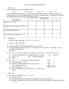 AP CALCULUS BC PROBLEM SET 4