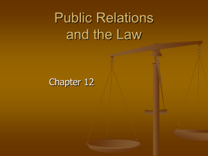 Public Relations and the Law