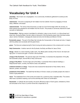 Vocabulary for Unit 4