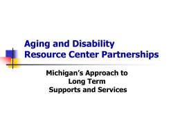 Aging and Disability Resource Center Partnerships