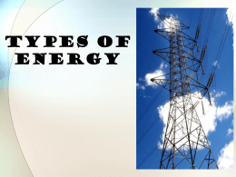 Types of Energy and Energy Transformation (Grade 7 ...