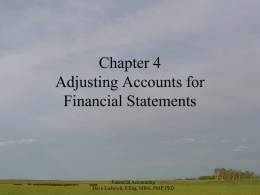 Financial Accounting Chapter 4