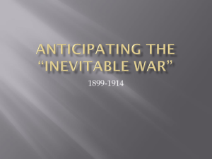 anticipating the *inevitable war