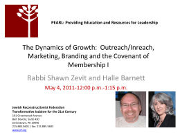 dynamics_of_growth - Jewish Reconstructionist Community