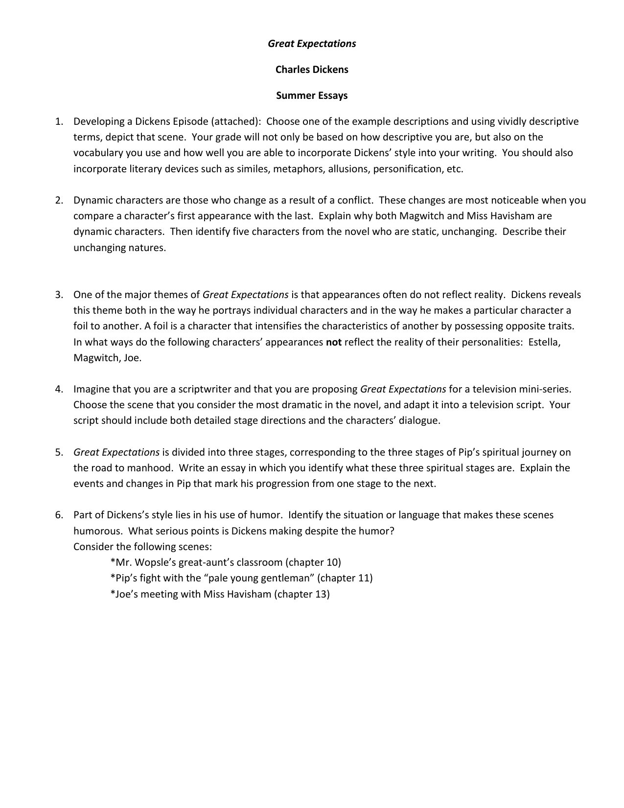 "great expectations thematic essay on abuse This list of important quotations from ""great expectations"" by charles dickens will help you work with the essay topics and thesis statements above by allowing you to support your claims."