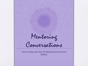 Mentoring Conversations Power Point