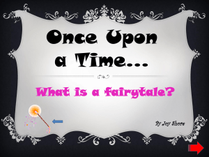 What is a fairytale? - Joy Shore