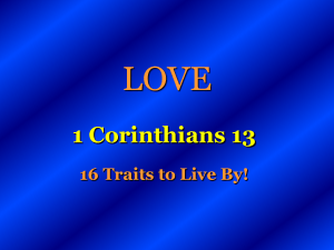 LOVE - Colonial church of Christ