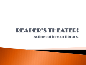 Reader's Theatre PowerPoint presentation