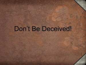 Be_Not_Deceived