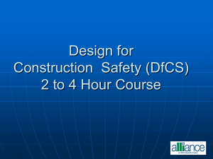 Designing forConstruction Site Safety- 2 to 4 hour