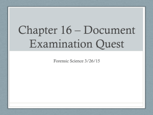 Chapter 16 * Document Examination Quest