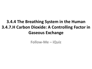 3.4.4 The Breathing System in the Human 3.4.7.H Carbon