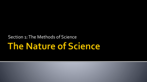 Methods of Science PowerPoint