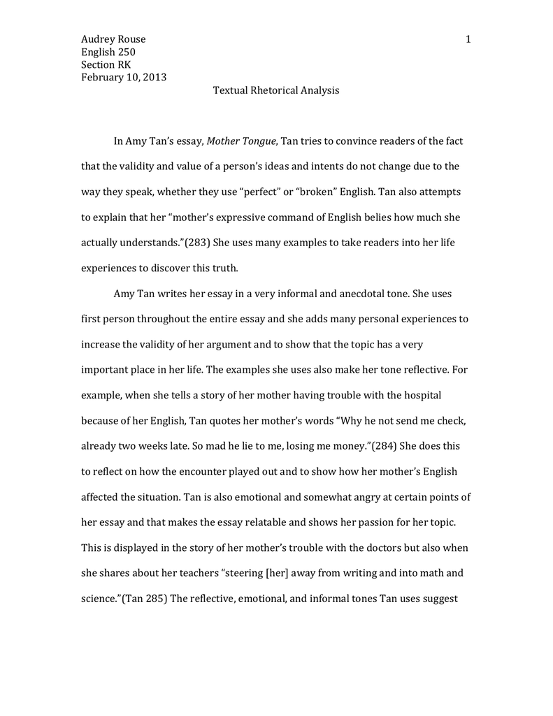 essay on a mother co essay