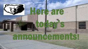 January 25th - Chandler Unified School District