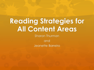 Reading Strategies for All Content Areas