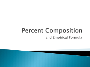 Percent Composition - Chemistry