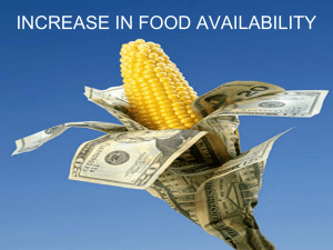 Increase in Food Availability (Ecumene adapted PPT)