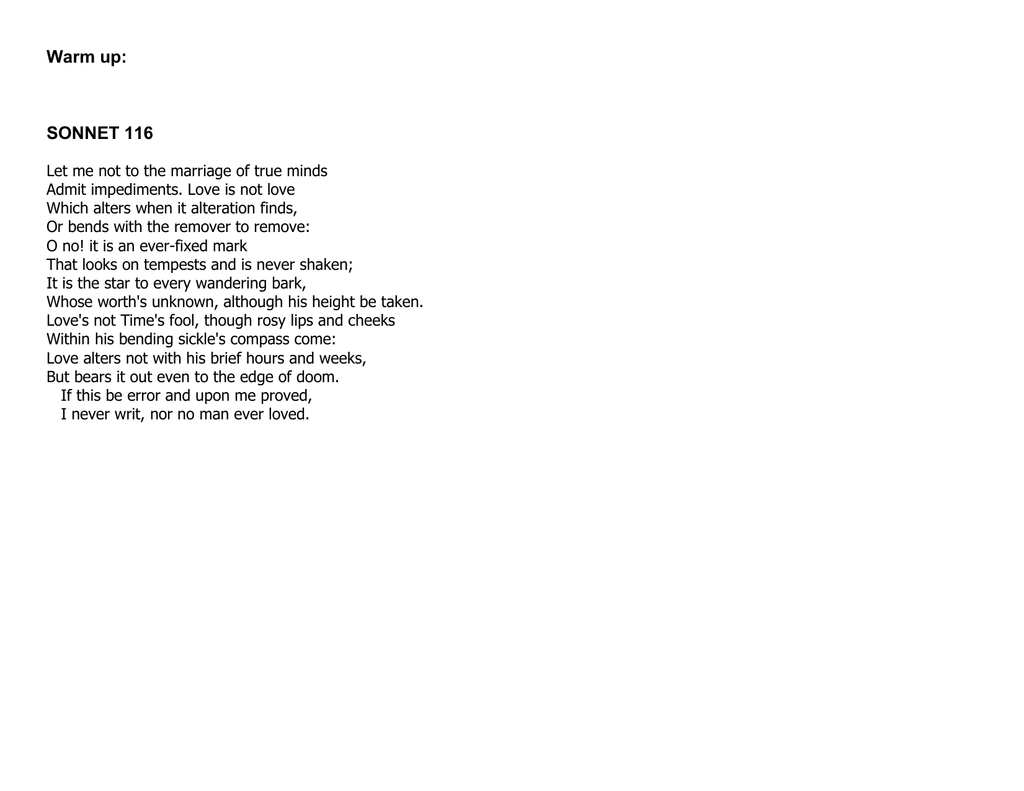 ️ Petrarch sonnet 18 analysis. Petrarch's and Shakespeare ...