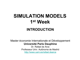 simulation models - Universidad Autónoma de Madrid