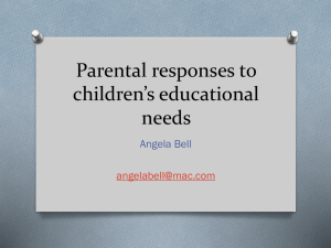 Parental responses to children's educational needs