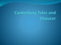Canterbury Tales and Chaucer