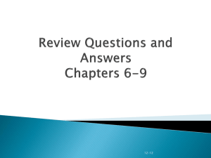 Review Q and A Lecture2 ch 6-9jm