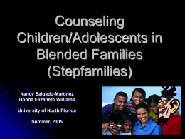 Counseling Children/Adolescents in Blended Families